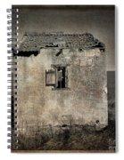 Derelict Hut  Textured Spiral Notebook