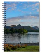 Derwentwater Spring Sunset Spiral Notebook