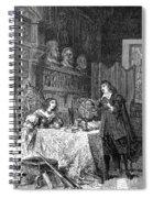 Descartes Teaching Queen Christina, 1649 Spiral Notebook