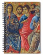 Descent Of The Holy Spirit Upon The Apostles Fragment 1311 Spiral Notebook