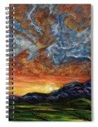 Descent On Mount Diablo Spiral Notebook
