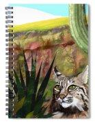 Desert Bobcat Spiral Notebook