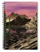 Desert Cartoon Spiral Notebook