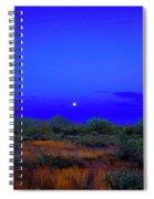 Desert Moon Scape Spiral Notebook