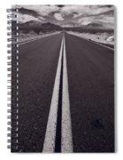 Desert Road Trip B W Spiral Notebook