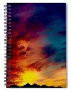 Desert Skull Of The Saguaro Sunset #3 Spiral Notebook