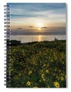 Desert Sunflowers Coastal Sunset 2 Spiral Notebook