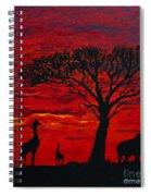 Desert Sunset 3 Spiral Notebook