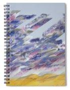 Desert Under Storm Spiral Notebook