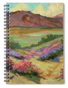 Desert Verbena At Borrego Springs Spiral Notebook