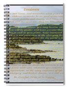 Desiderata Rugged Coastline Spiral Notebook