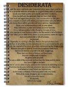 Desiderata Vintage Spiral Notebook