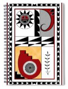 Southwest Collection - Design Five In Red Spiral Notebook
