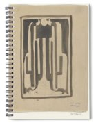 Design For A Book Published By Sl Van Looy In Amsterdam, Carel Adolph Lion Cachet, 1874 - 1945 Spiral Notebook