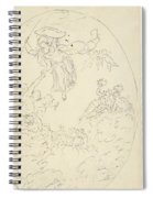 Design For A Ceiling Painting With A Triumph Of Minerva, In Oval, Dionys Van Nijmegen Possibly, 17 Spiral Notebook