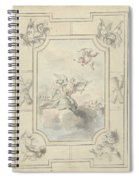 Design For A Ceiling Painting With Allegory Of Peace, Dionys Van Nijmegen, 1715 - 1798 Spiral Notebook