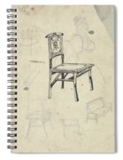 Design For A Chair, Carel Adolph Lion Cachet, 1874 - 1945 Spiral Notebook