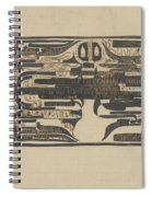 Design For A Charter On The Occasion Of Twelve-and-a-half-year Service, Carel Adolph Lion Cachet, 18 Spiral Notebook