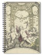 Design For A Gazebo Of Green Trellis, In Which Three Putti Play With Animals, Daniel Marot II, 170 Spiral Notebook