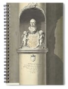 Design For A Monument To C. Brunings A Bust In A Niche, Bartholomeus Ziesenis, 1806 Spiral Notebook
