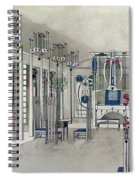 Design For A Music Room With Panels By Margaret Macdonald Mackintosh Spiral Notebook
