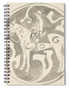 Design For A Plate With A Canadian Mountie, Carel Adolph Lion Cachet, 1874 - 1945 Spiral Notebook