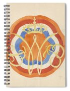 Design For A Plate With A Crowned W, Carel Adolph Lion Cachet, 1874 - 1945 Spiral Notebook
