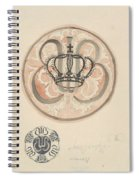 Design For A Plate With Crown And Monogram, Carel Adolph Lion Cachet, 1874 - 1945 Spiral Notebook