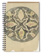 Design For A Plate With Floral Decoration, Carel Adolph Lion Cachet, 1874 - 1945 Spiral Notebook