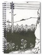 Design For End Paper Of Pierrot Spiral Notebook
