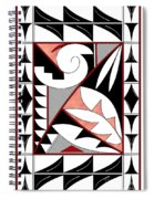 Southwest Collection - Design Four In Red Spiral Notebook