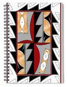 Southwest Collection - Design One In Red Spiral Notebook
