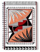 Southwest Collection - Design Three In Red Spiral Notebook
