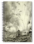 Destruction Of The Us Battleship Maine, 15th February, 1898 Spiral Notebook