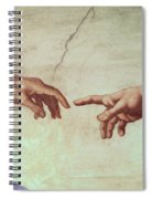 Detail From The Creation Of Adam Spiral Notebook