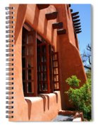 Detail Of A Pueblo Style Architecture In Santa Fe Spiral Notebook