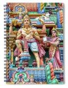 detail of Arulmigu Kapaleeswarar Temple, Chennai, Tamil Nadu Spiral Notebook