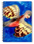 Detail Of Bird People Flying Chaffinch  Spiral Notebook