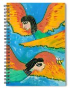 Detail Of Bird People Little Green Bee Eaters Of Upper Egypt 1 Spiral Notebook