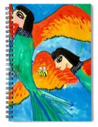 Detail Of Bird People Little Green Bee Eaters Of Upper Egypt 2 Spiral Notebook