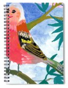 Detail Of Bird People The Chaffinch Family Father Spiral Notebook
