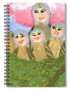 Detail Of Bird People The Chaffinch Family Nest Spiral Notebook