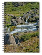 Detail Of  Dynjandi Waterfall Spiral Notebook
