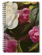 Detail Of Full Blown Roses Spiral Notebook