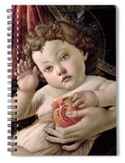 Detail Of The Christ Child From The Madonna Of The Pomegranate  Spiral Notebook