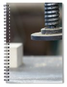 Detail Of The Chuck In The Carpentry Workshop - Shallow Depth Of Spiral Notebook