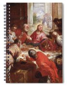Detail Of The Last Supper Spiral Notebook