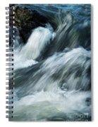 Detail Of Wild Rapid Water Spiral Notebook