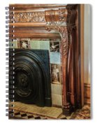 Detail Of Wood Carving And Tiles - Historic Fireplace Spiral Notebook