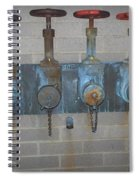 Detailed Four Pipes Spiral Notebook